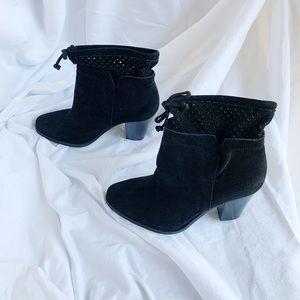 """""""Crown Vintage"""" NEW black suede booties."""